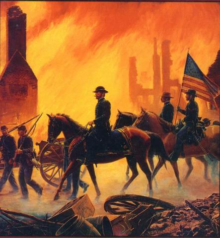 Sherman's troops begin march through Georgia