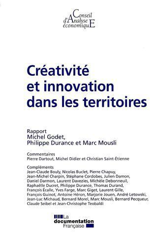 """Rapport du CAE """"Créativité et innovation dans les territoires"""""""