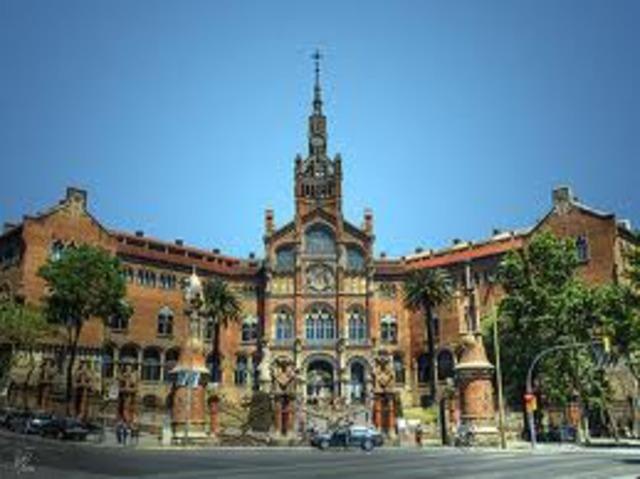 Inici de les obres de l'hospital de Sant Pau