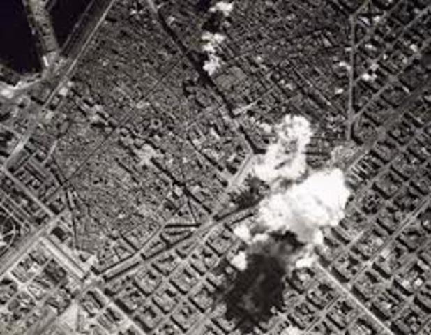 1r bombardeig a la ciutat de Barcelona