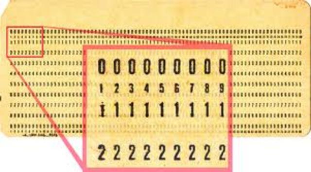 tarjetas perforadas para entrar los datos y los programas