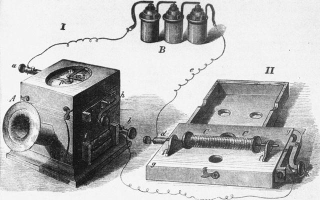 Американец А.Белл изобрёл телефон