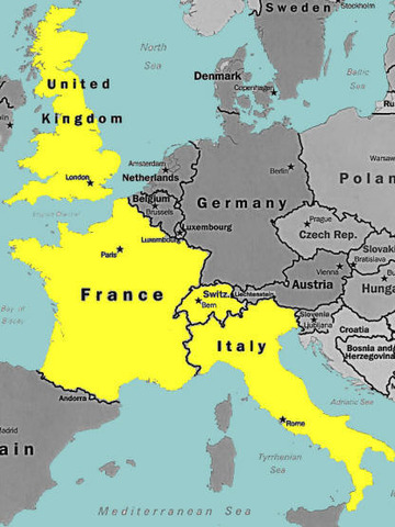 Italy daclares war on France and Great Britain