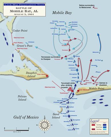 Farragut Captures Key Port of Mobile Bay