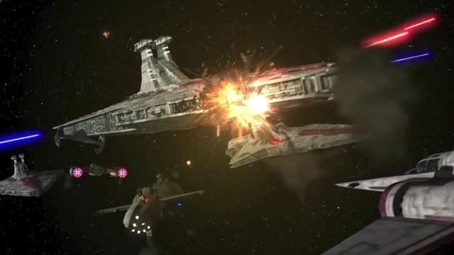Grievous's suprise attack (Space Battle)