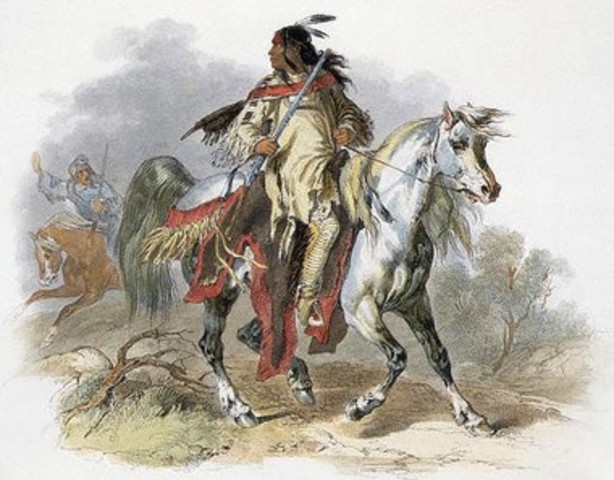 They Encounter the Blackfoot Indians