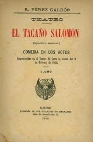 OBRA TEATRAL EL TACAÑO SALOMÓ