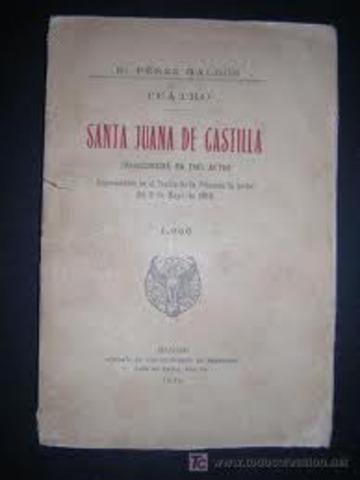 OBRA TEATRAL. SANTA JUANA DE CASTILLA