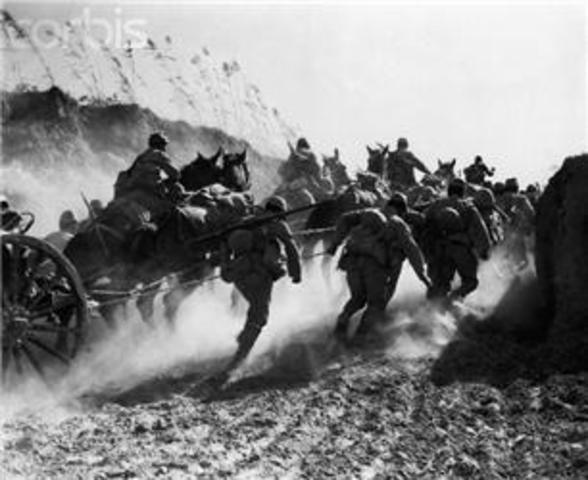 Japan invades China; Sino-Japanese War begins