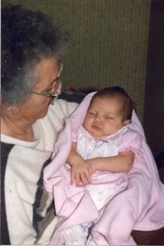Meeting Great Grandma and Grandpa Z