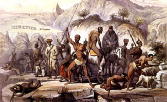 Boer Settlers Beat Xhosa