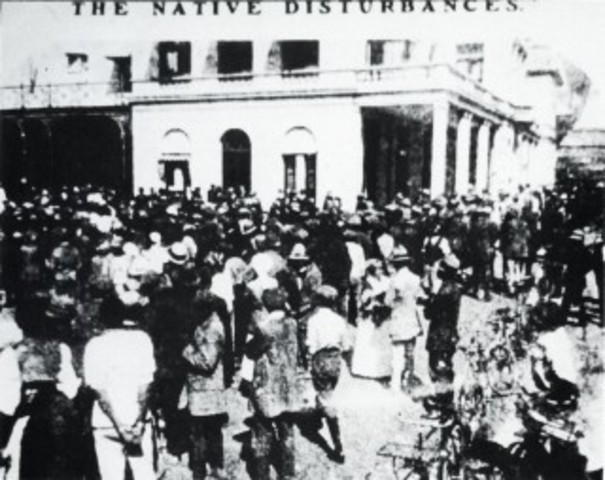 Protest organized by ANC