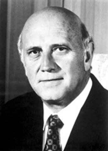 F. W. de Klerk Appointed President