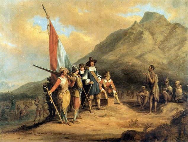 The Brirish took over the Dutch East India Company