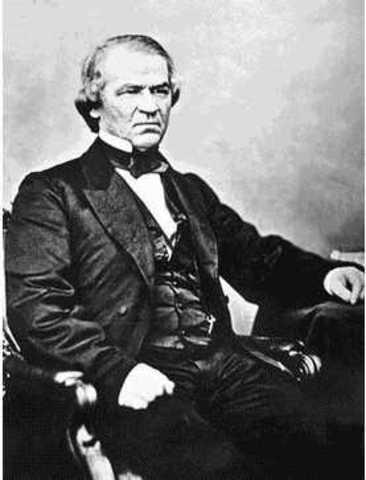 President Andrew Johnson Announces Plans for Reconstruction
