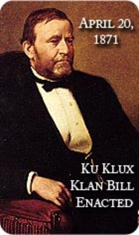Klu Klux Klan Act Enacted