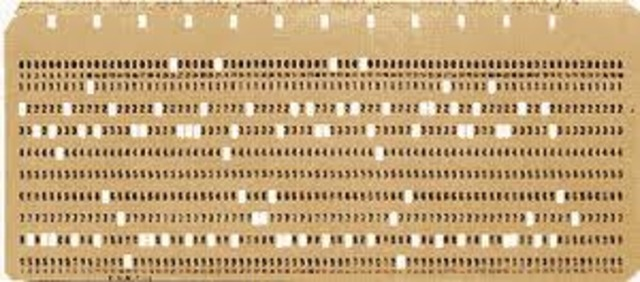 SIGLO XIX  Tarjetas perforadas