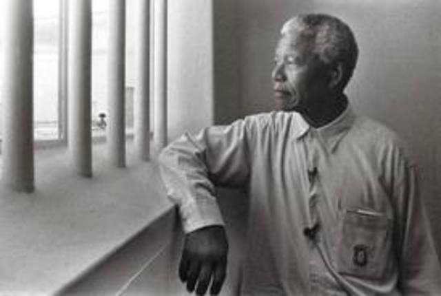Mandela and seven others were sentenced to life in prison