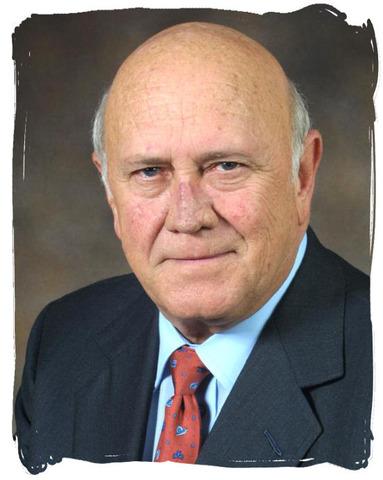 New South African president  F.W. de Klerk