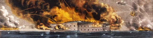 South attacks Fort Sumter!