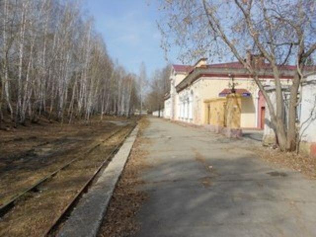 Железная дорога в г. Озерске