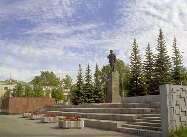 Открытие памятника В.И.Ленину