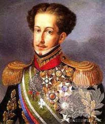 D. João VI nomeia D. Pedro regente e seu lugar-tenente no Brasil