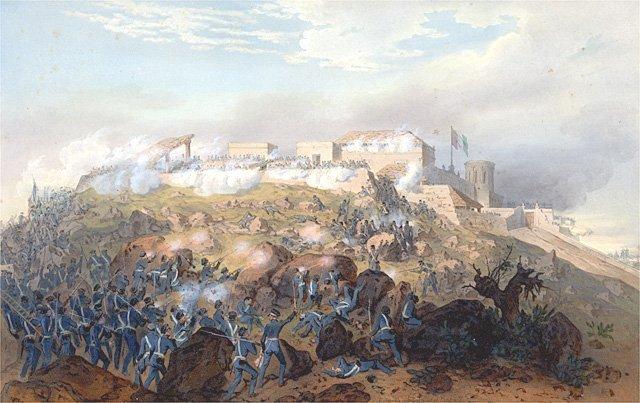 Combate en el Castillo de Chapultepec