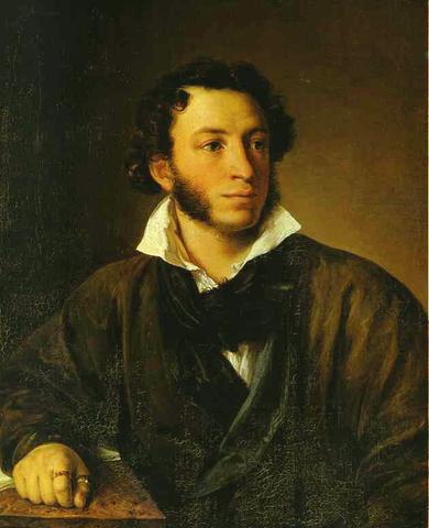 Nace en Moscú Alesksandr Pushkin (Poeta y novelista)