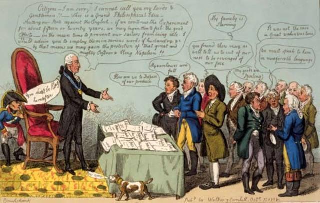 Jefferson passes the Embargo Act of 1807