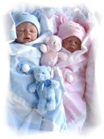 Baby Twin Siblibgs