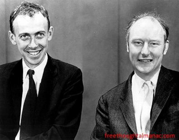 Watson and Crick discover the shape of DNA