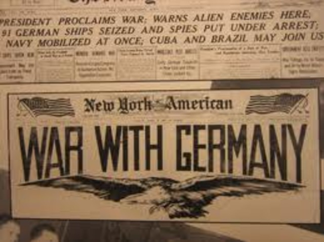 Germany declares war on the United States.