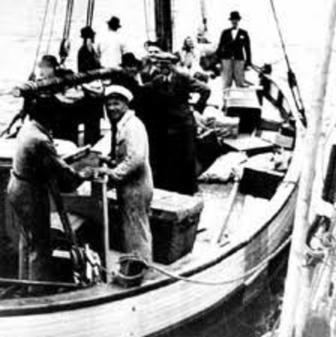The Danish citizens smuggle most of the nation's Jews to neutral Sweden.