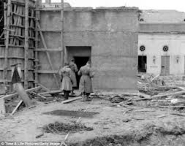 Adolph Hitler commits suicide in his bunker in Berlin rather than be caught by the advancing Soviet army.