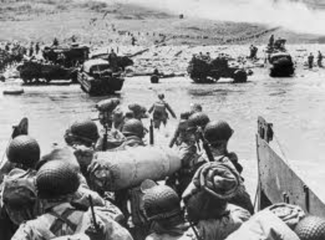 The Allied Powers invade Normandy.