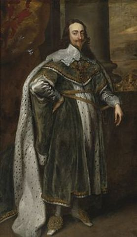King Charles I takes the throne of England
