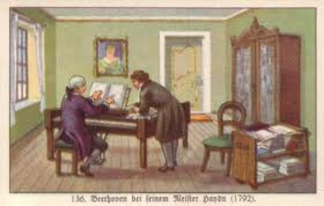 He moved to Vienna to study with Haydn