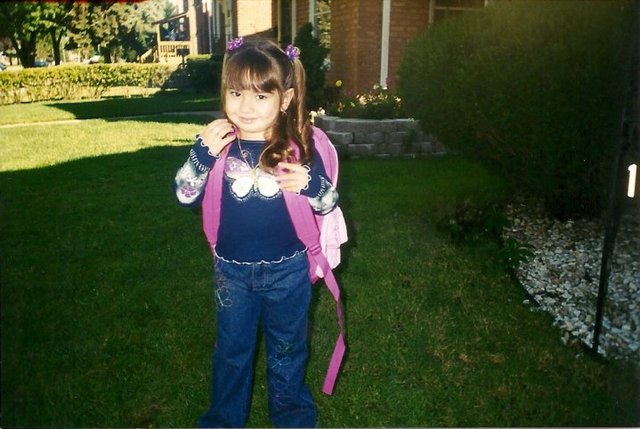 My first day of Preschool.(: