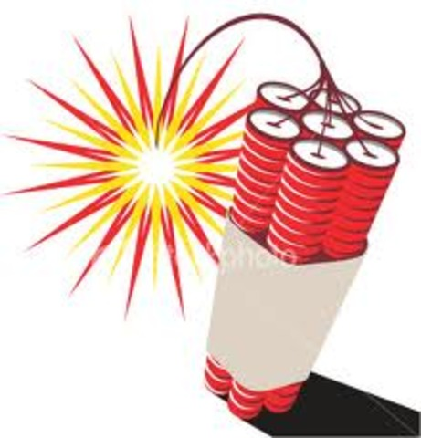 Dynamite invented by Alfred Nobel