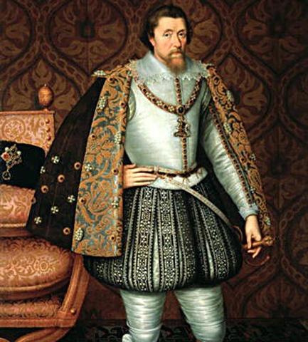 King James is coronated king of England