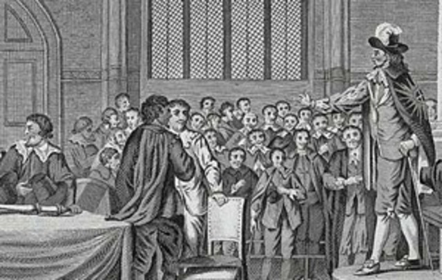 The Grand Remostrance is Presented to King Charles