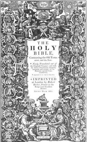 Release of King James I Bible