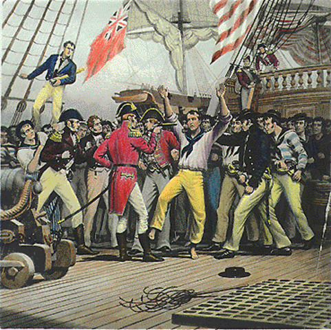 The British and French Abuse American Ships