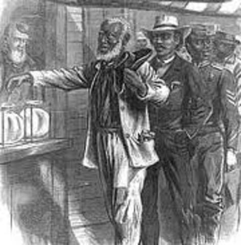 1870 Fifteenth amendment