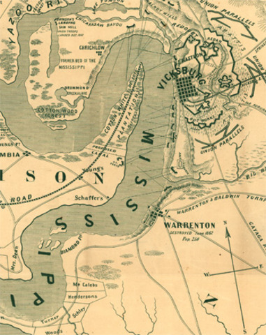 Mississippi fortress of Vicksburg falls to Grant
