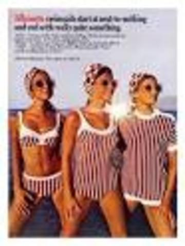 1960 swimwear