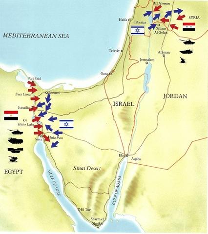 Yom Kippur War ( October 6 to 25, 1973 )