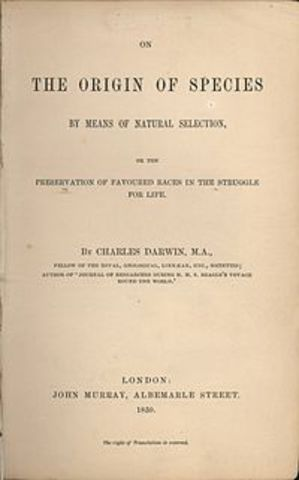 """Darwin's """"on the origin of species"""" is published"""
