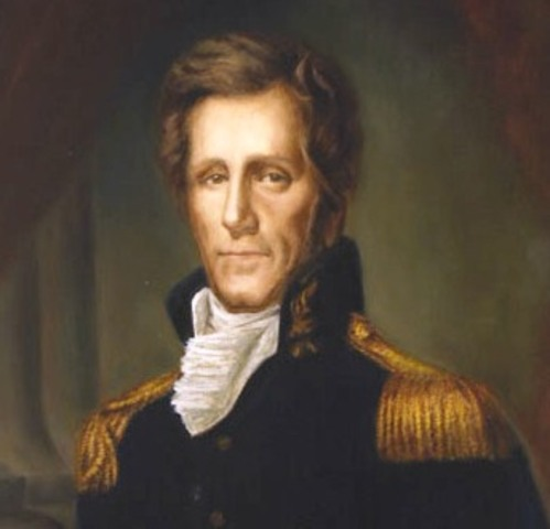 Andrew Jackson enlists in the revolutionary army.